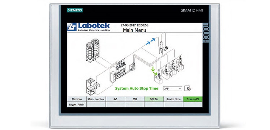 Labo-Net - advanced Touch Screen Control for materials handling systems